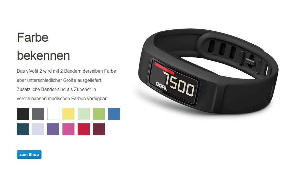 Vivofit Armband mit Display von Garmin