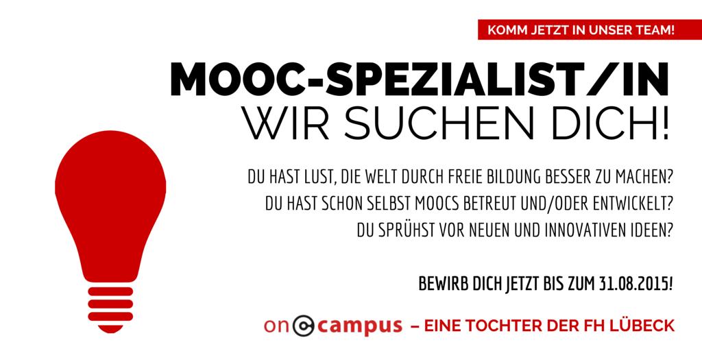 MOOC-Spezialist/in gesucht