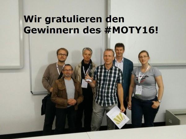 Sieger #MOTY16 mit Jury